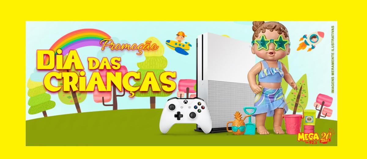 Promoção Mega FM Dia das Crianças 2020 Vídeo Game ou Boneca
