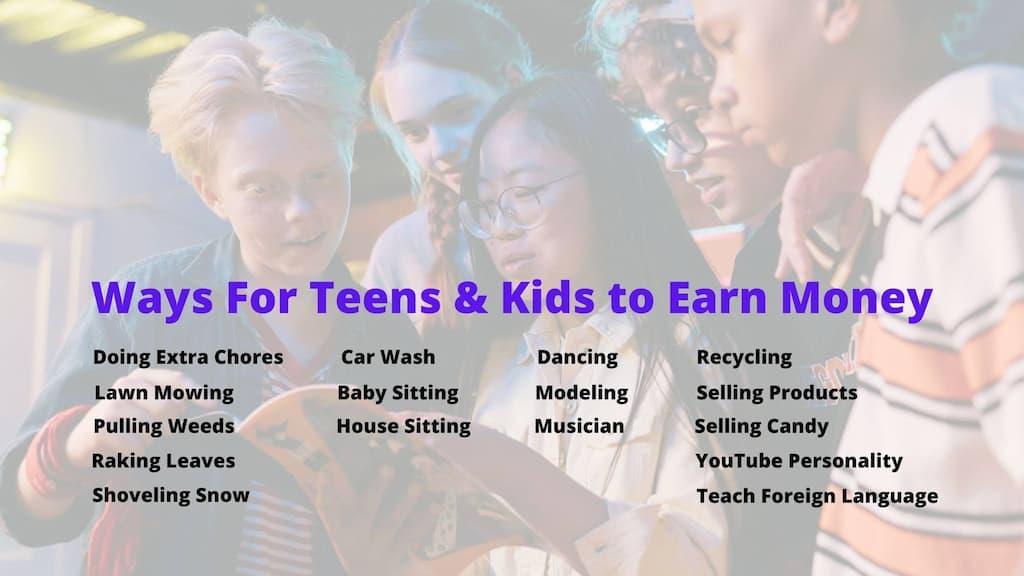 Ways Kids and Teens Earn Money