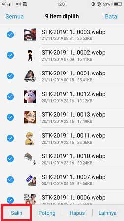 Cara Menyimpan Stiker Di Whatsapp Wa Ke Galeri Hp Android Wafbig