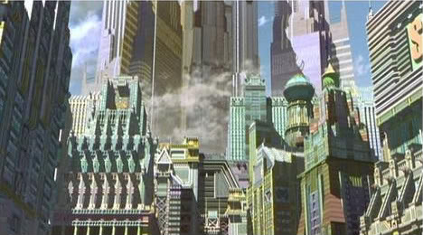 Metropolis 2001 ziggurat and other buildings animatedfilmreviews.filminspector.com
