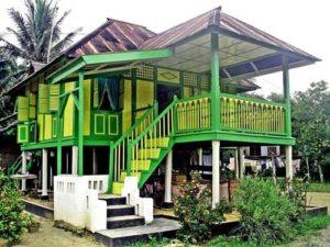 Rumah Adat Melayu di Tanjungpura - Langkat, Sumatera Utara