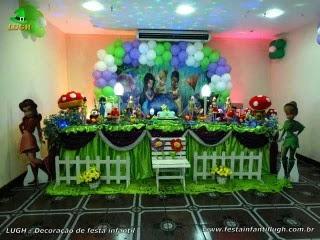 Decoração para festa de aniversário tradicional luxo de tecido - pano -  tinker Bell - Barra -RJ