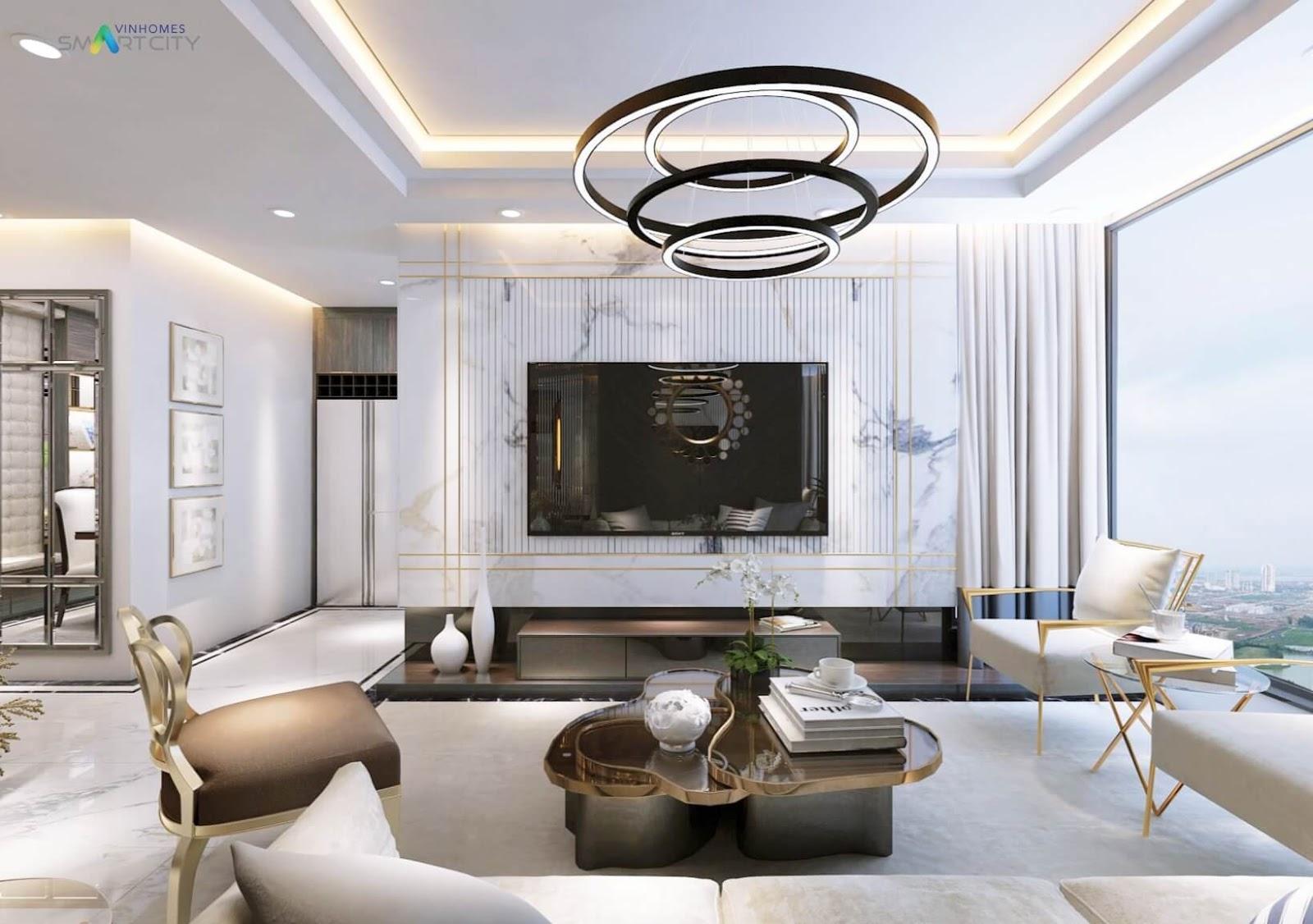Nội thất phòng khách Vinhomes Smart City