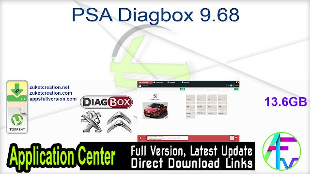 PSA Diagbox 9.68