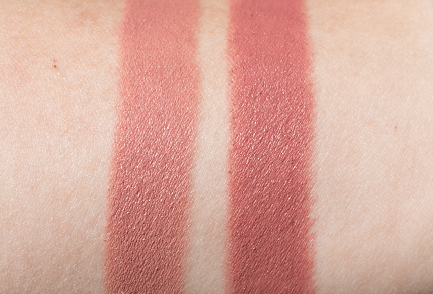 Lisa Eldridge Velvet Fawn and Velvet Muse Arm Swatches