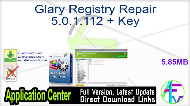 Glary Registry Repair 5.0.1.112 + Key