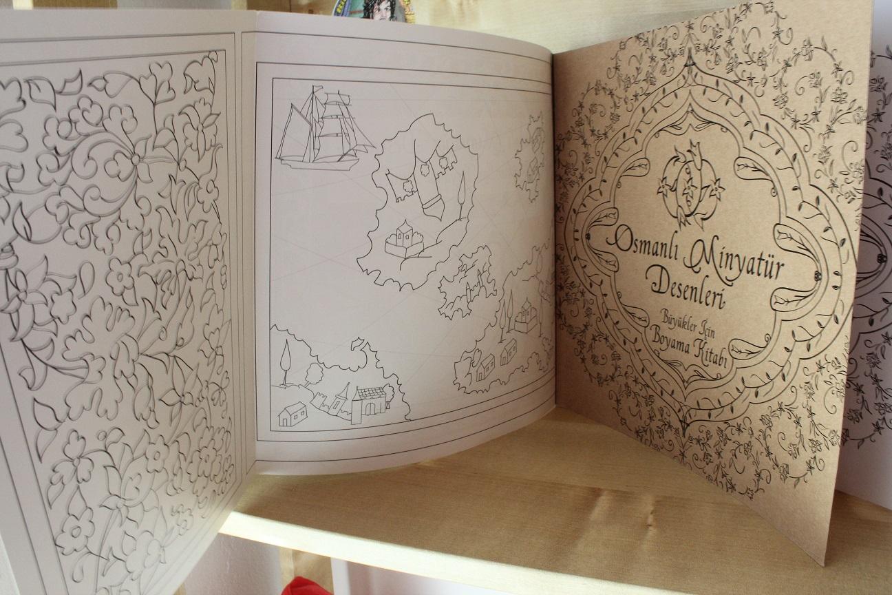 Esintiler Ve Anlar Osmanlı Minyatür Desenleribüyükler Için Boyama