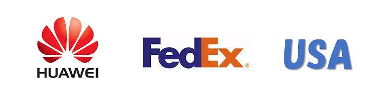 Huawei, FedEx, USAのトレードマークとロゴ