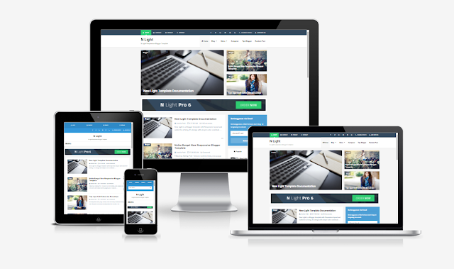 N Light Responsive And SEO Friendly Premium Blogger Template