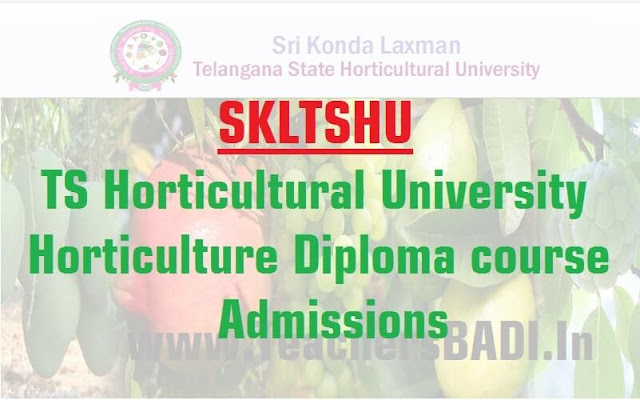 SKLTSHU,Horticultural University,Horticulture Diploma course