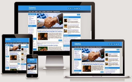 Symetry Free Blogger Template