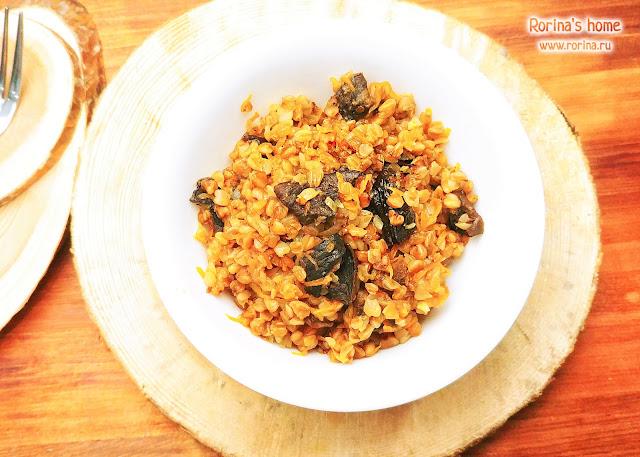 Гречка с сушеными грибами: постный рецепт