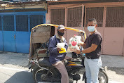 Terdampak PPKM Darurat, Ketua Pewarta Berikan Sembako Kepada Warga Tak Mampu