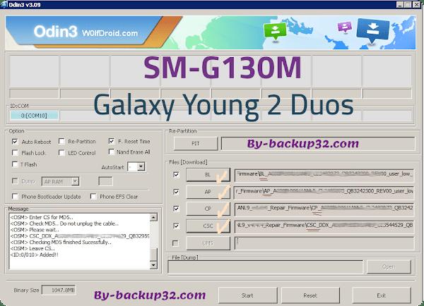 سوفت وير هاتف Galaxy Young 2 Duos موديل SM-G130M روم الاصلاح 4 ملفات تحميل مباشر