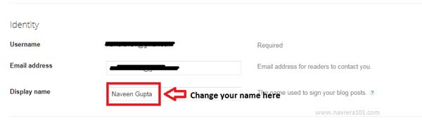 How to Change Blog Author Name on Blogger