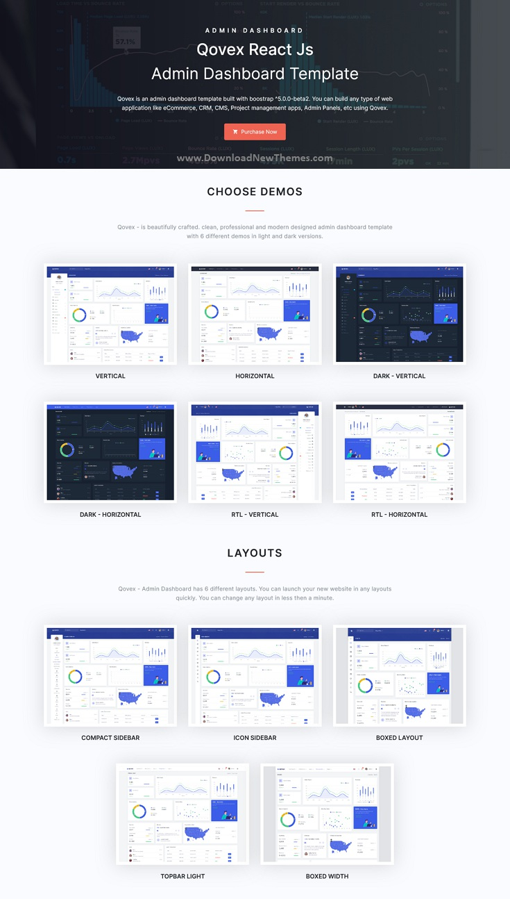 Qovex - React Js Admin & Dashboard Template