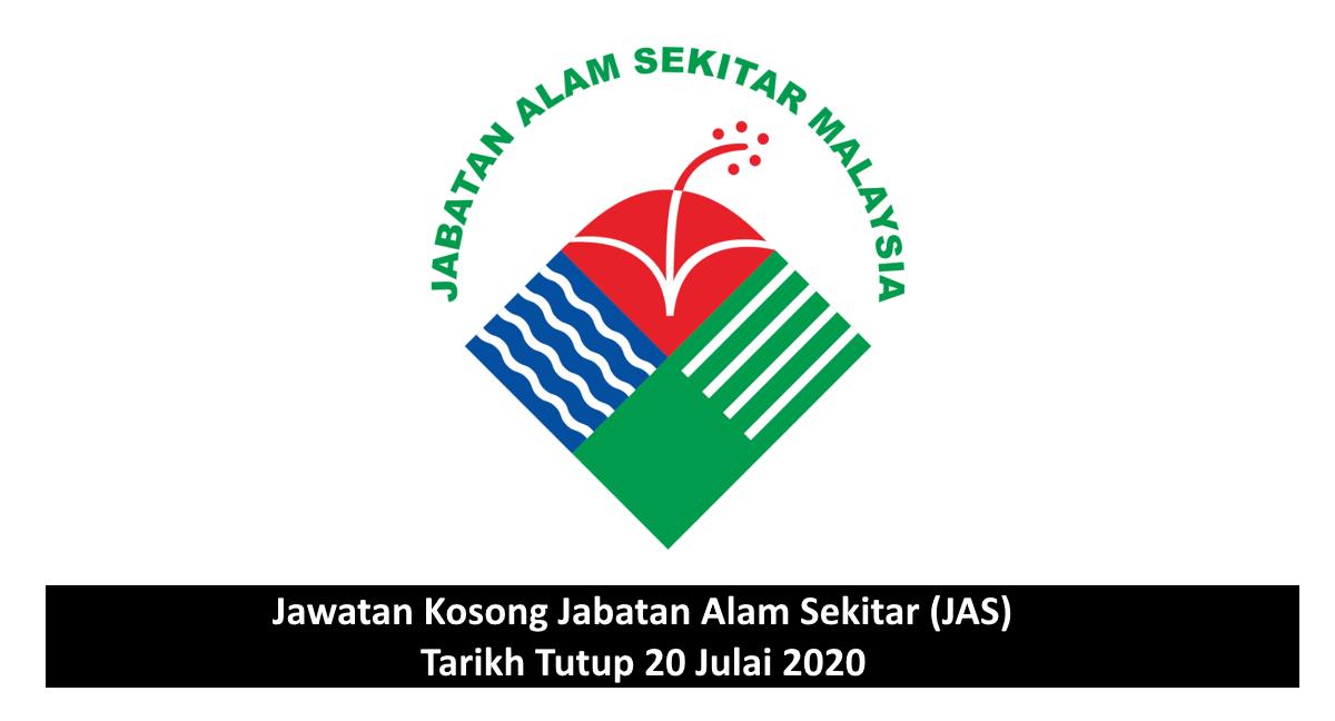 Jawatan Kosong Jabatan Alam Sekitar Jas Tarikh Tutup 20 Julai 2020