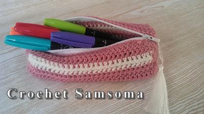 كروشيه مقلمة . سلسلة العودة للمدرسة . طريقة كروشيه حافظة أقلام . كروشيه مقلمة للاقلام . Back To School Crochet Pencil Case Tutorial .  crochet estuche ..Back to School  Crochet