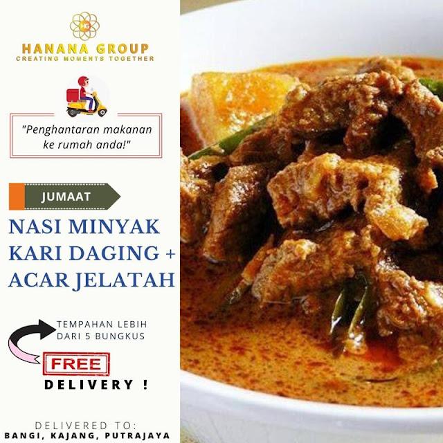 Nasi Briyani + Ayam Masak Merah + Acar