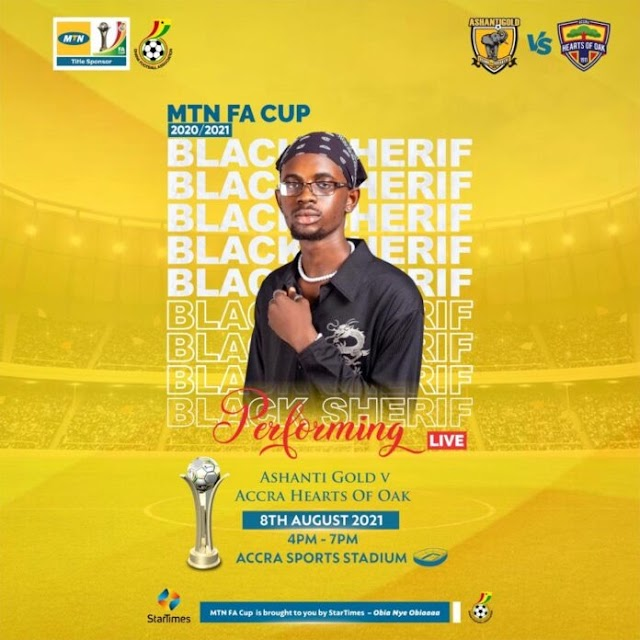 Black Sheriff To Thrill Fans AT The MTN FA Cup Final