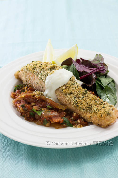 Baked Salmon With Herb Crust Christine S Recipes Easy