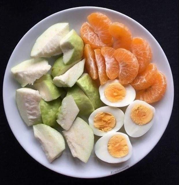 Menu diet puasa tanpa nasi jambu, jeruk, telur