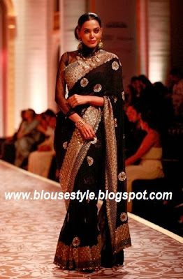 BORDER BLACK SAREE