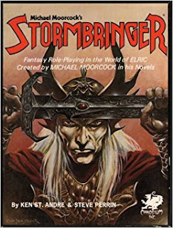 Cover of Stormbringer, a role-playing game published by Chaosium.