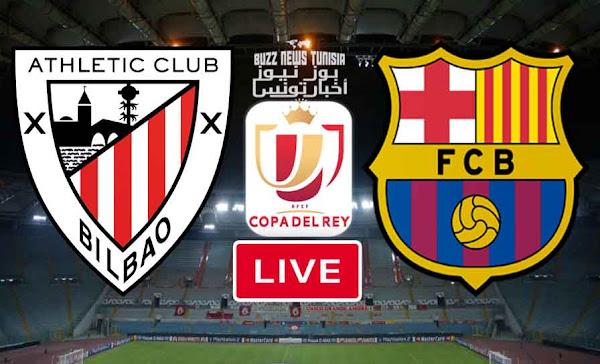 مباراة برشلونة و بلباو نهائي كأس ملك إسبانيا