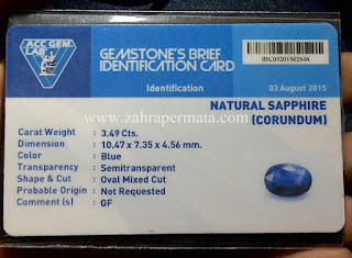 Royal Blue Saphire + Memo - ZP 577