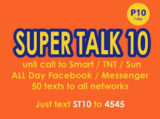 Talk N Text ST10 Super Talk 10 – Unli Tri-net Call and FB for 10 Pesos