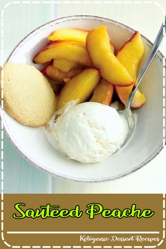 Serve these Sauteed Peaches with vanilla ice cream and sugar cookies for a  Sauteed Peache