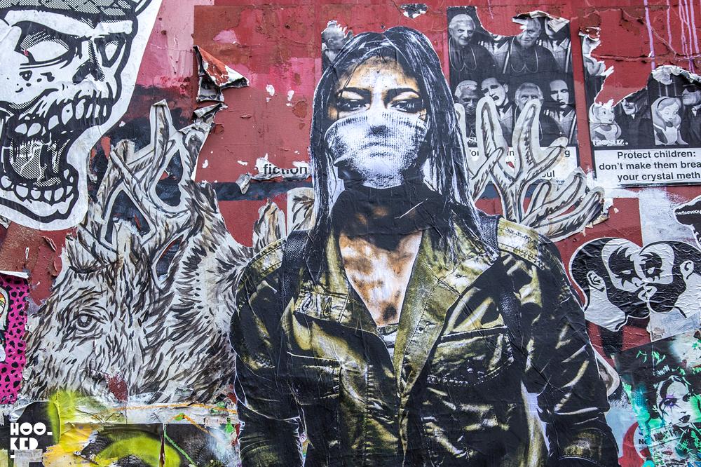 American Street Artist Eddie Colla in London