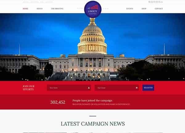 Liberty Best Political WordPress Themes 2020
