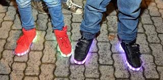 Led Leuchten beim Laternelaufen