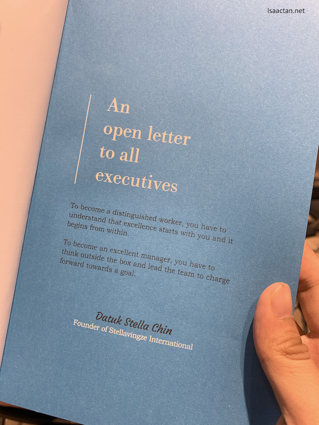 The book starts off with an 'open letter to all executives'
