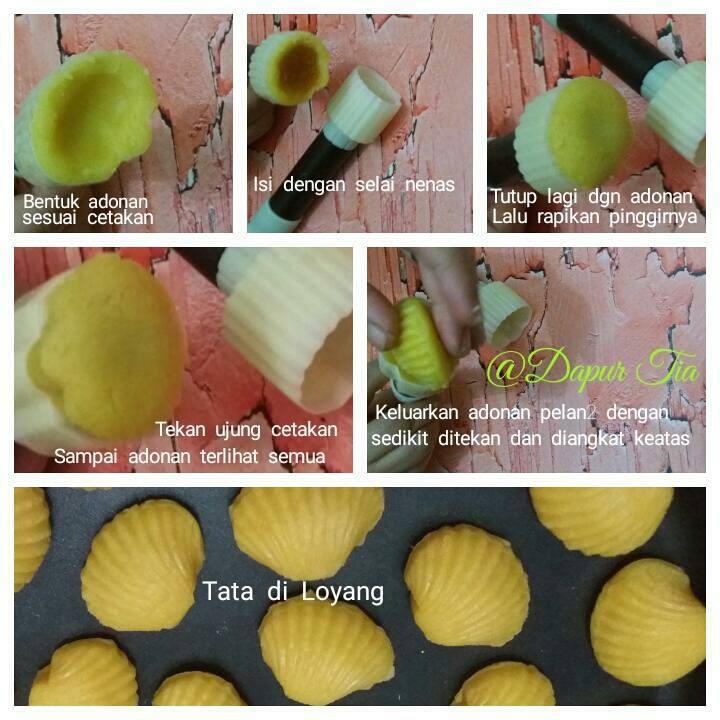 cara membuat kue nastar kerang resep masakan indonesia