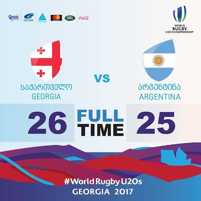 Регби, Чемпионат мира U20, Грузия 26 - 25 Аргентина