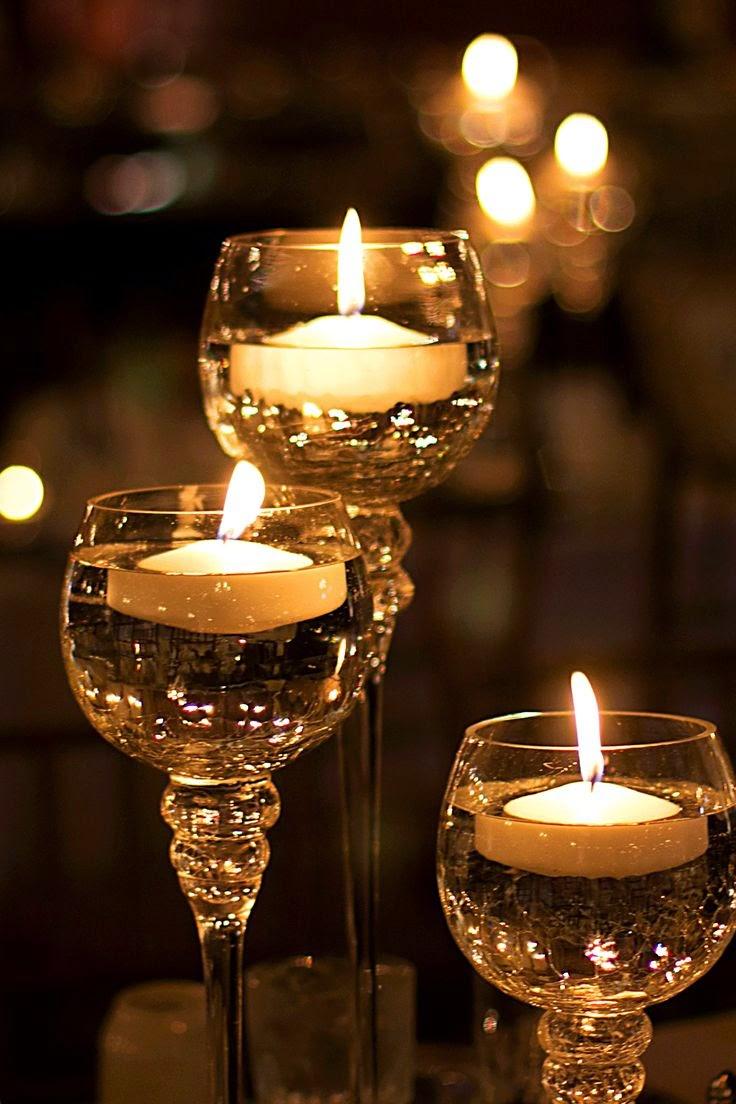 centros de mesa con velas para bodas