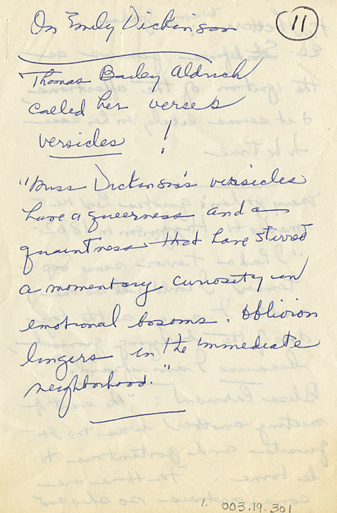 emily dickinson handwriting analysis