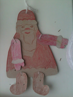 новогодние поделки: Дед мороз - марионетка