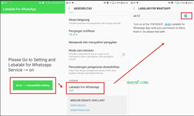 cara spam whatsapp dengan Aplikasi Labalabi
