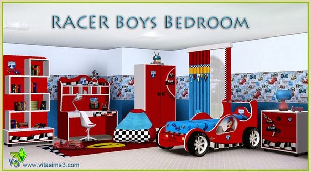 sims 3 m addict sims 3 meubles chambre de gar on avec meubles voitures gratuit boys room. Black Bedroom Furniture Sets. Home Design Ideas