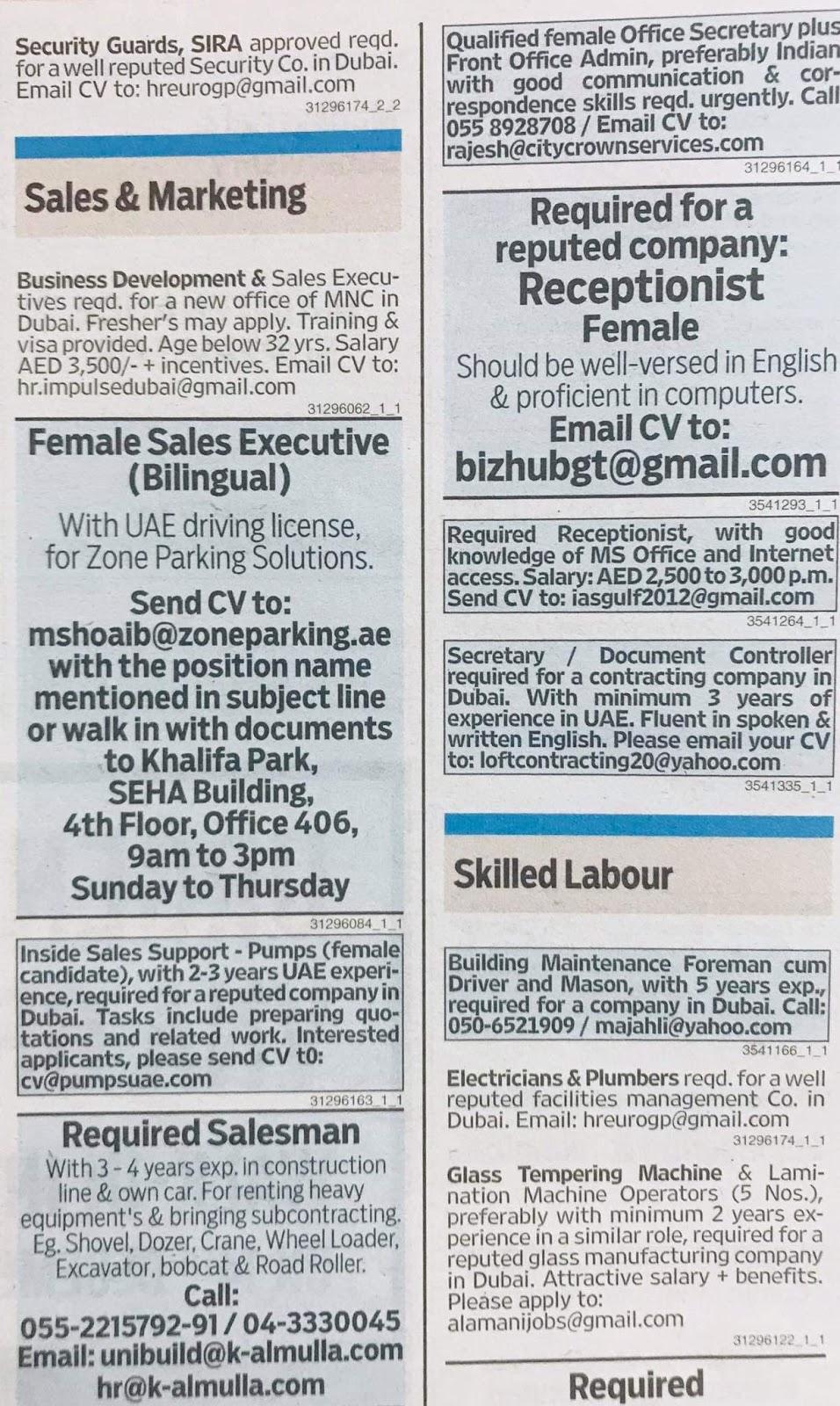 JOBS In UAE Local Hiring Khaleej Times-UAE-1512910- Jobs in