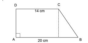 cara mencari tinggi trapesium siku siku