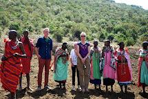 Jon And Marianne Hunter In Kenya Masai