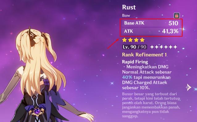 rust bow fischl