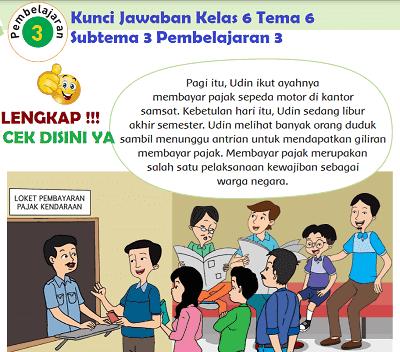 Kunci Jawaban Tematik Kelas 6 Tema 6 Subtema 3 Pembelajaran 3 www.simplenews.me