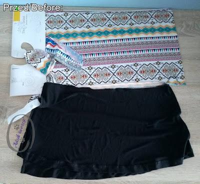 Dwuczęściowy strój kąpielowy DIY szycie z resztek materiałów - Adzik tworzy