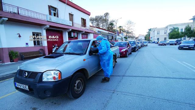 Αργολίδα lockdown: Ουρές οδηγών για rapid test κορωνοϊού σε Ναύπλιο και Άργος